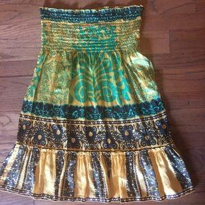 HaleBob Cabana Strapless Smocked Dress